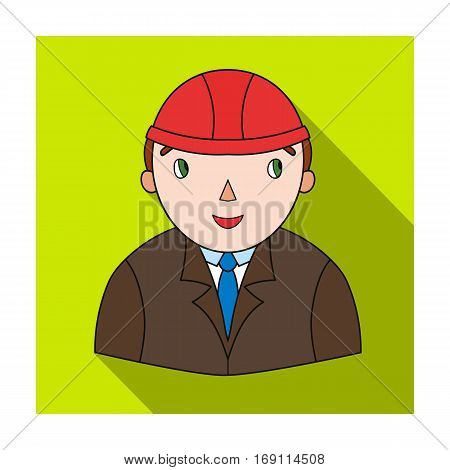 Architect icon in flat design isolated on white background. Architect symbol stock vector illustration.