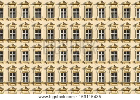 Architecture Pattern, Window Of An Old House In Berlin Kreuzberg