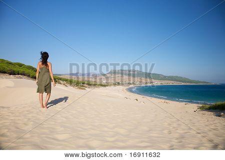 Walking Over Bolonia Beach