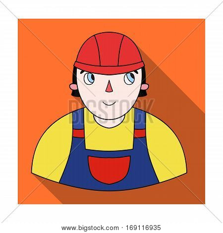 Foreman icon in flat design isolated on white background. Architect symbol stock vector illustration.
