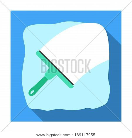 Squeegee icon in flat design isolated on white background. Cleaning symbol stock vector illustration.