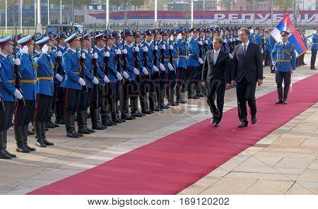 Belgrade, Serbia. October 24Th 2016 - Slovenia Prime Minister Miro Cerar In Official Visit To Serbia