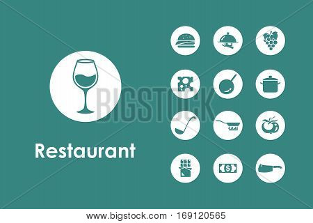 It is a set of restaurant simple web icons