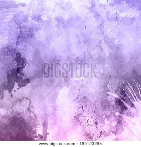 Grunge texture background with watercolor splats and stains