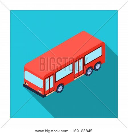 Bus icon in flat design isolated on white background. Transportation symbol stock vector illustration.