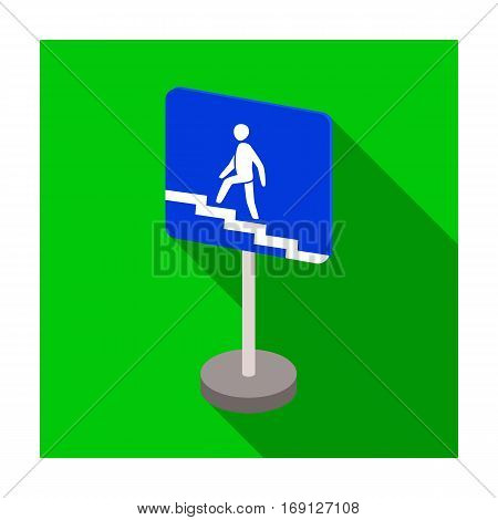 Information road signs icon in flat design isolated on white background. Road signs symbol stock vector illustration.
