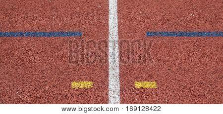 color line on race track