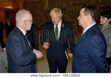 Belgrade, Serbia. November 10Th 2016 - British Foreign Minister Boris Johnson In Official Visit To S