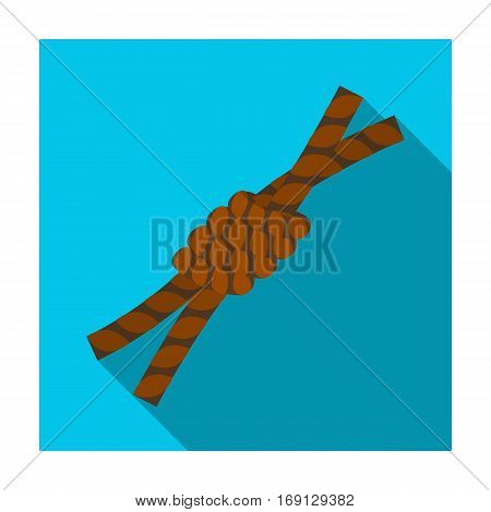 Node lasso icon in flat design isolated on white background. Rodeo symbol stock vector illustration.