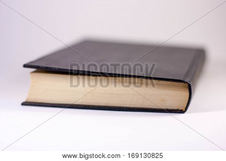 Isolated books end on a white background