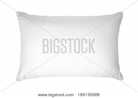 A white pillow Isolated on white background.