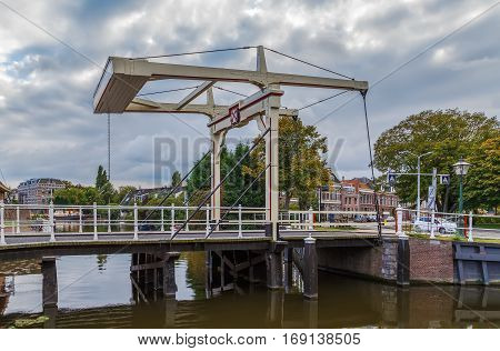 The Morspoort Bridge is a bascule bridge in the center of the Dutch city of Leiden. The bridge is located directly in front of the Morspoort. The bridge is a national monument.