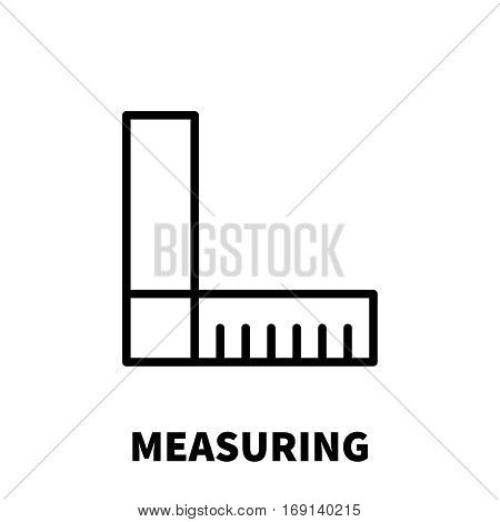Measuring icon or logo in modern line style. High quality black outline pictogram for web site design and mobile apps. Vector illustration on a white background.