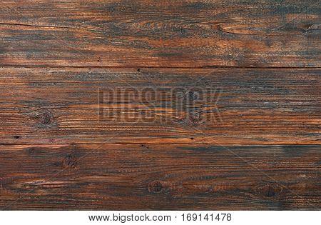 Dark Brown Old Vintage Wooden Planks Background