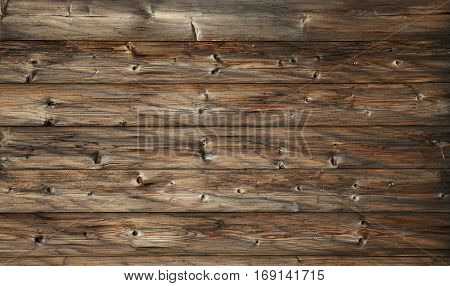 Dark Brown Old Vintage Wooden Planks Background