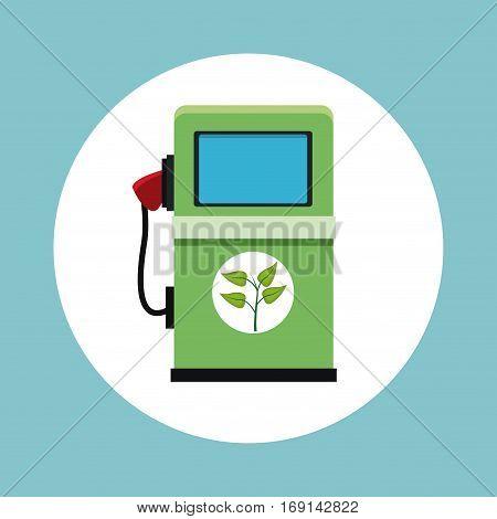 gasoline pump station ecology vector illustration eps 10
