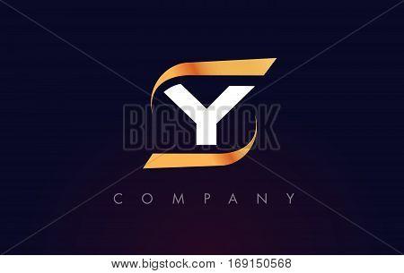 Y Letter Logo Design. Modern Letter Template Vector Illustration.