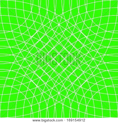 Cellular Grid, Mesh Pattern With Circles From Center (repeatable)