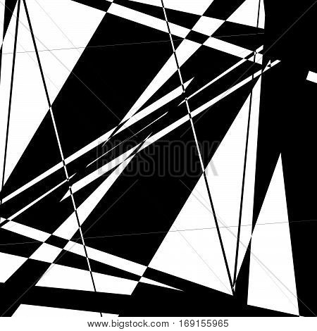 Edgy, Random Artistic Composition Of Geometric Shapes