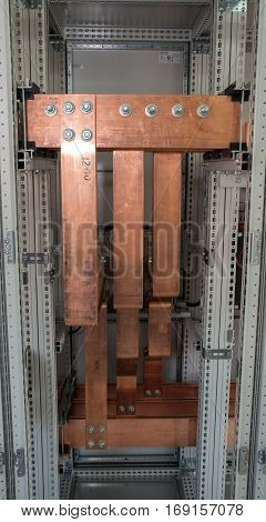 high power electrical board with copper bars