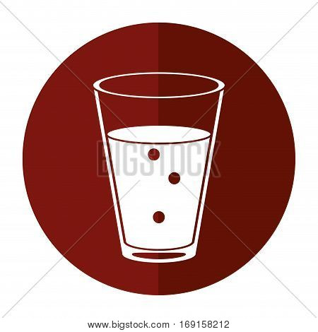 cup glass coffee caffeine drink-circle icon shadow vector illustration eps 10