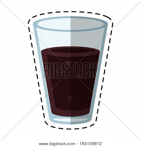 cup glass coffee caffeine drink-cut line vector illustration eps 10