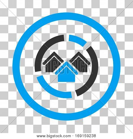 Realty Diagram icon. Vector illustration style is flat iconic bicolor symbol blue and gray colors transparent background. Designed for web and software interfaces.