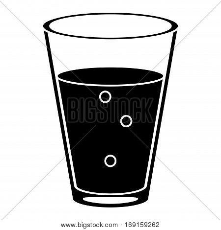 cup glass coffee caffeine drink pictogram vector illustration eps 10