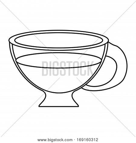 cup espresso hot beverage thin line vector illustration eps 10
