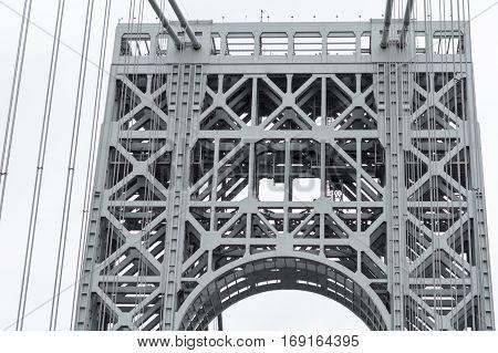 View Of George Washington Bridge Over Hudson River.
