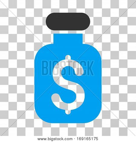 Business Remedy icon. Vector illustration style is flat iconic bicolor symbol blue and gray colors transparent background. Designed for web and software interfaces.