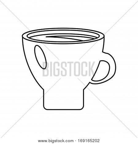 mug coffee hot aroma morning thin line vector illustration eps 10