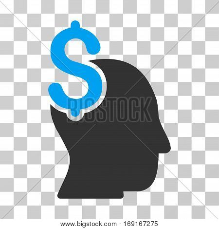 Commercial Intellect icon. Vector illustration style is flat iconic bicolor symbol blue and gray colors transparent background. Designed for web and software interfaces.