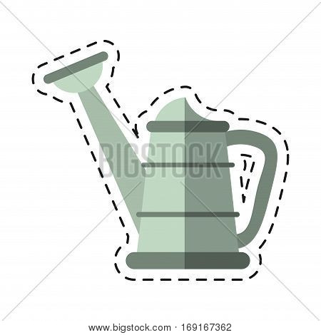 water can gardering equipment-cut line vector illustration eps 10