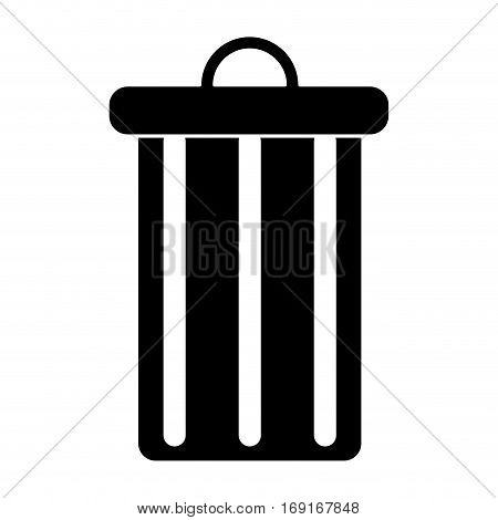 trash can garbage environment recycle pictogram vector illustration eps 10