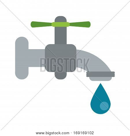 dripping faucet water recycle ecologic vector illustration eps 10