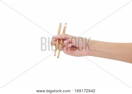 Hand Using Chopsticks.