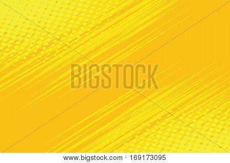 Yellow side hatch with halftone effect. Vintage pop art retro vector illustration