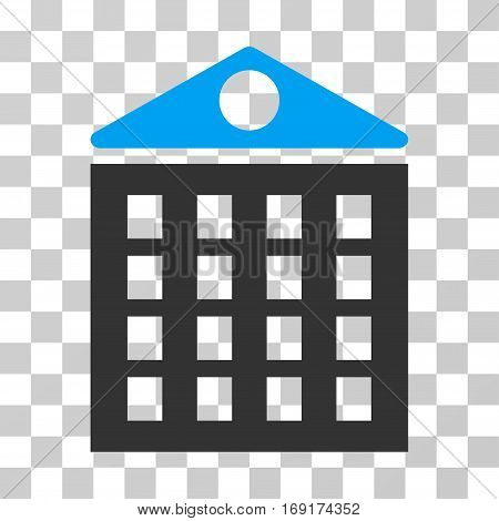 Multi-Storey House icon. Vector illustration style is flat iconic bicolor symbol blue and gray colors transparent background. Designed for web and software interfaces.