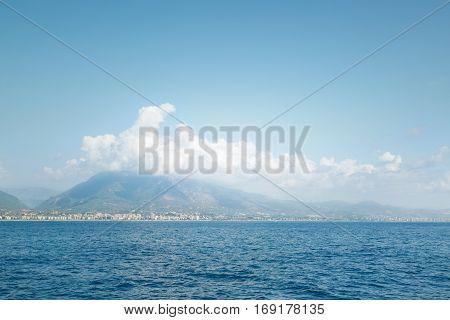 Coast of Alanya Turkey photography from the ship