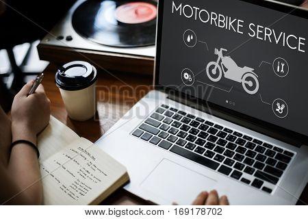 Motor Service Maintenance Motorbike