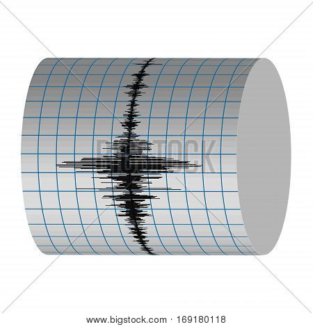 seismograph record seismic vibrations of the earthquake on the Richter scale, seismogram vector