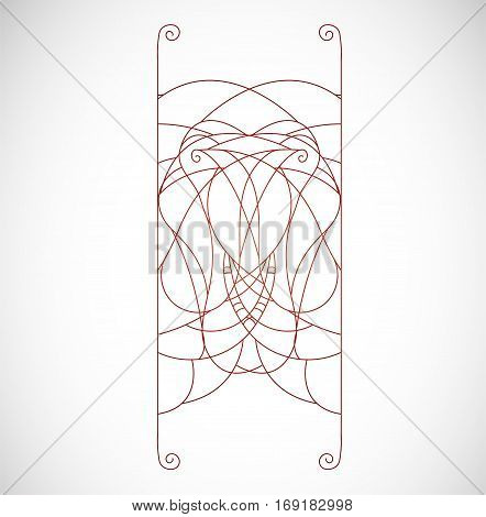 Vector illustration with abstract shape. Illustration 10 version
