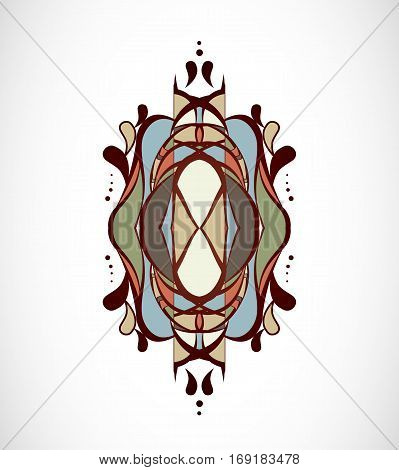 Vector illustration with colorful abstract shape. Illustration 10 version