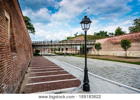 on the street of Alba Iulia citadel