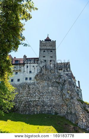 Brasov Transylvania. Romania. The medieval Castle of Bran known for the myth of Dracula shot in 15 may 2015