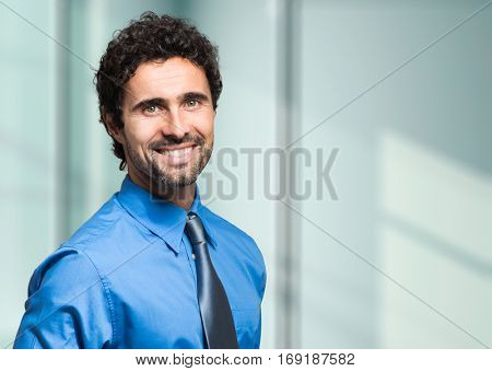 Smiling manager portrait