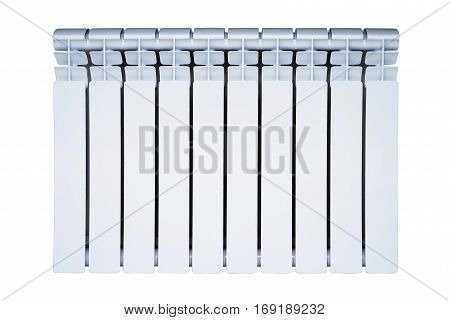 White heat radiator. isolated on white background front view