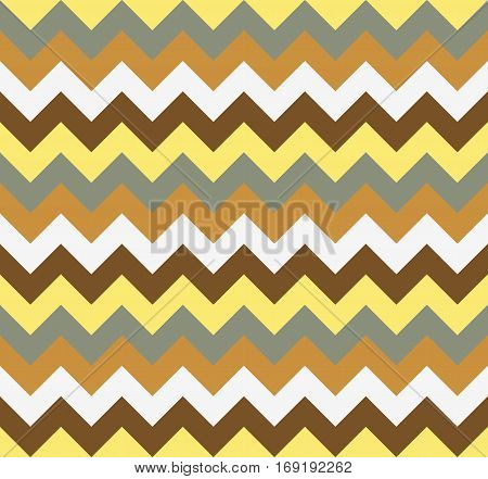Chevron pattern seamless vector arrows  design colorful yellow beige brown grey