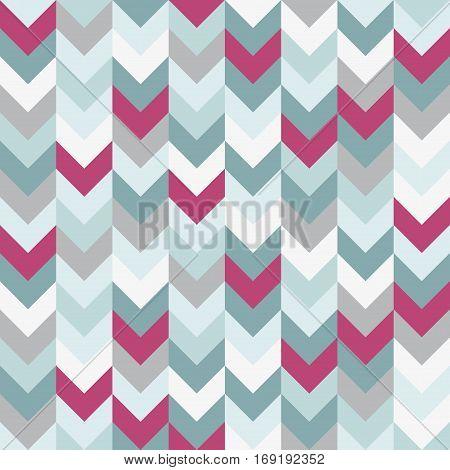 Chevron pattern seamless vector arrows  design colorful white pink light blue grey aqua